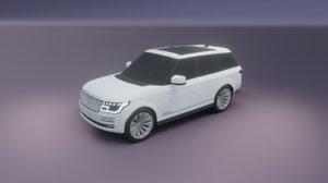 3D range rover 2020 model