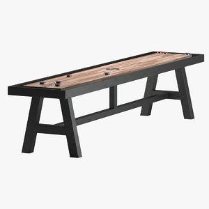 3D model shuffleboard table furniture