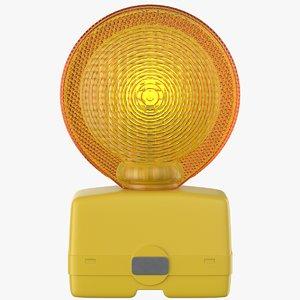 3D warning light model