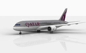 3D boeing 787 qatar