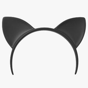 3D headband cat
