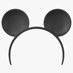 3D model headband mouse