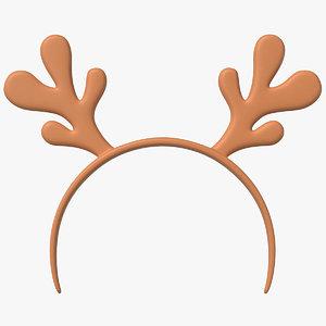 3D headband deer