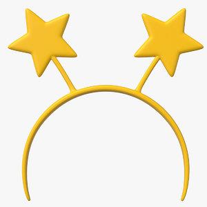 headband stars 3D model