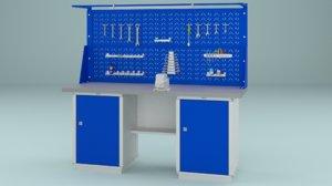 3D workbench bench work model