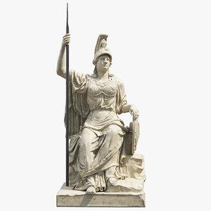 minerva statue 3D model
