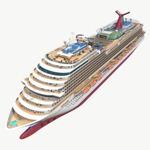 3D real-time cruise ship