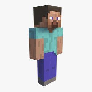 3D minecraft steve model