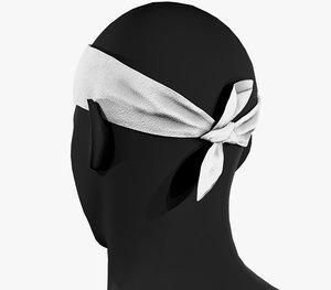 3D white bandana model