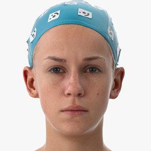 rhea human head lid 3D model