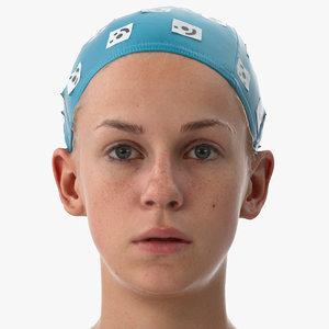 3D model rhea human head lips