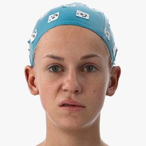 rhea human head upper 3D model