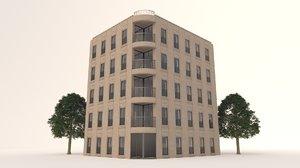 3D barcelona simple facade