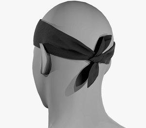 3D model black bandana