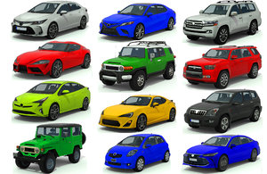 3D cars pack 2 vehicles