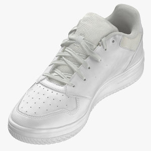 male sneakers white 01 3D