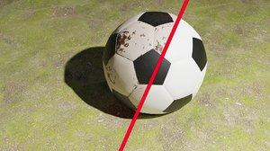 3D model soccer ball pack -