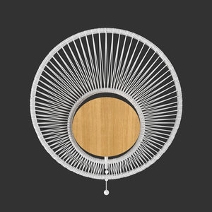 3D model wall lamp oyster