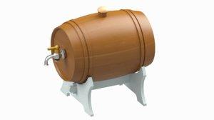 small wine cask 3D model