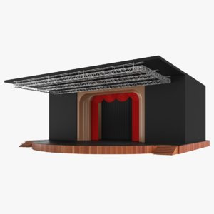 3D real theater stage