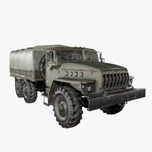 3D ural 4320 model