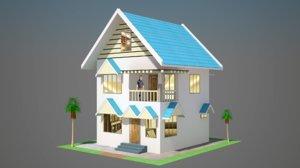 design 45 m2 house 3D model