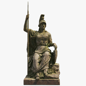minerva old statue 3D