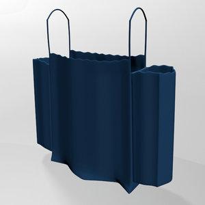 3D stylish dress ruffle cold-shoulder model