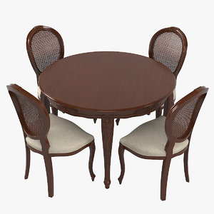 seven sedie 0227ta01 dining table 3D model