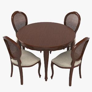 seven sedie 0227ta01 dining table 3D model
