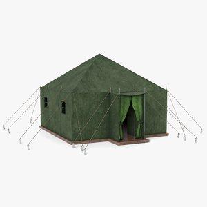 3D tent military model