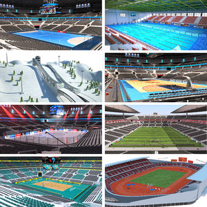 olympic park venues collecition 3D model