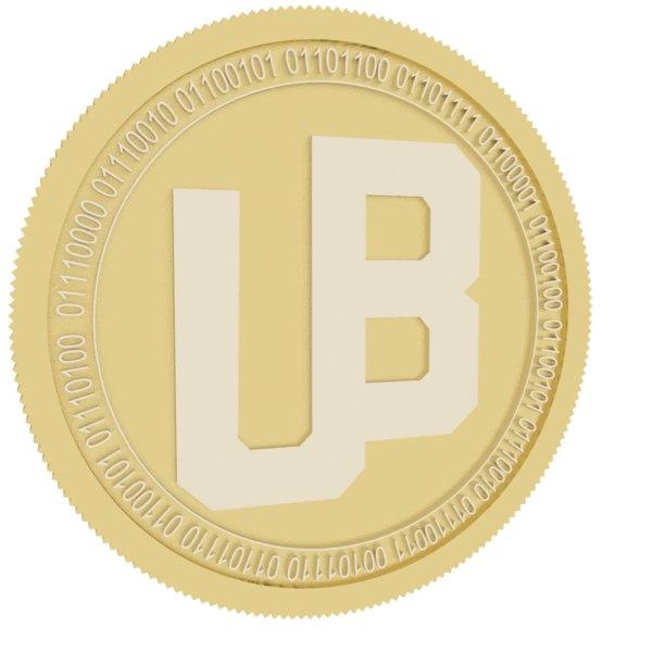 3D unibright gold coin model