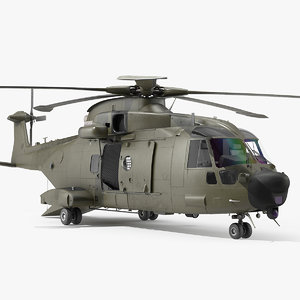 3D medium lift military helicopter