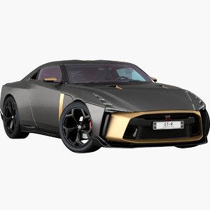 3D realistic nissan gt-r50 concept model