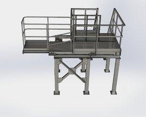 3D industrial steps