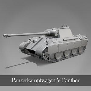panther tank panzers 3D model