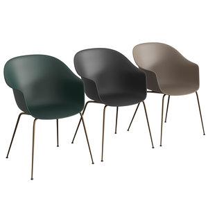 3D bat dining chair bases model