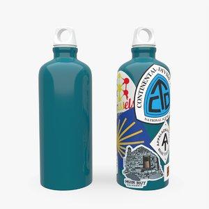 bottle water hiking 3D