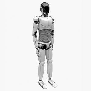 robot rigged model