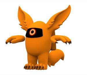 orange werewolf 3D model