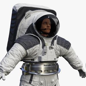 3D astronaut wearing xemu spacesuit