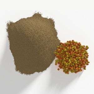 3D mustard powder model