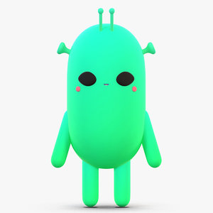 cute cartoon alien 3D model