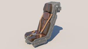 science fiction pilot seat model