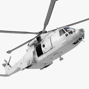3D multipurpose medium transport helicopter model