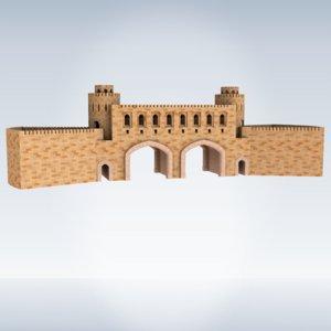 3D model muscat gate