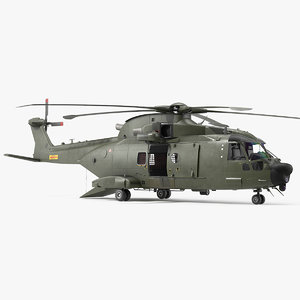 3D agustawestland aw101 merlin helicopter