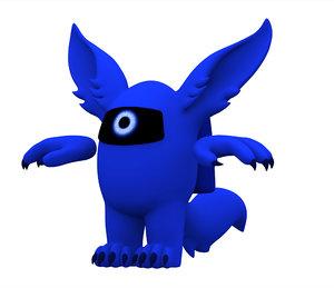 blue werewolf 3D