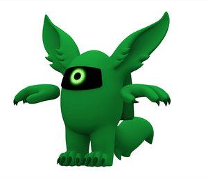 green werewolf 3D